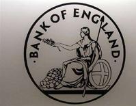 <p>Il logo della Banca d'Inghilterra. REUTERS/Luke MacGregor (BRITAIN)</p>