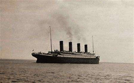 The Titanic is seen in an undated file photo. REUTERS/Christie's/Handout