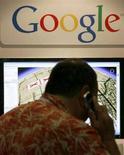 <p>La presentazione di un servizio di Google Maps in California nel 2007. REUTERS/Mike Blake</p>