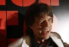 """<p>Mick Jagger dei Rolling Stones alla prima di """"Shine A Light"""" di Martin Scorsese a New York il 30 marzo 2008. REUTERS/Lucas Jackson</p>"""