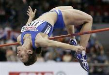 <p>L'italiana Antonietta Di Martino agli Europei indoor di atletica a Birmingham nel 2007. REUTERS/Phil Noble</p>