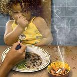 <p>Una delle immagini contro il fumo stampate sui pacchetti di sigarette in Brasile. REUTERS/Ministero della Salute/Handout (Brasile).</p>