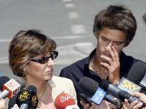 <p>Andrea Baldini col suo legale Giulia Bongiorno. REUTERS/Giampiero Sposito (ITALY)</p>