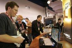 <p>Un portatile Dell a una mostra di elettronica a Las Vegas. REUTERS/Steve Marcus</p>