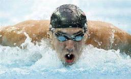 <p>Michael Phelps nella finale dei 100m farfalla alle Olimpiadi di Pechino. REUTERS/Jerry Lampen</p>