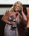 <p>Britney Spears ieri sera sul palco degli MTV Video Music Awards a Los Angeles September. REUTERS/Mario Anzuoni</p>
