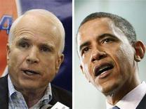 <p>Republican presidential nominee Senator John McCain and Democratic presidential nominee Senator Barack Obama are seen in a combination file photo. REUTERS/File</p>