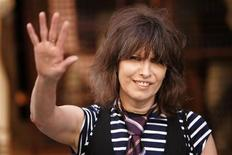 <p>Rock singer Chrissie Hynde arrives at the first ever PETA (People for the Ethical Treatment of Animals) Europe humanitarian awards at the Stella McCartney fashion boutique in London, June 28, 2006. REUTERS/David Moir</p>