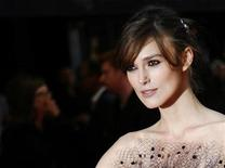 """<p>Actress Keira Knightley arrives for the world premiere of """"The Duchess"""" at Leicester Square in London September 3, 2008. REUTERS/Luke MacGregor</p>"""