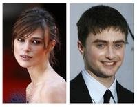 <p>Actors Keira Knightley (L) and Daniel Radcliffe are shown in this combination of file photographs from 2008. The two actors are among AOL Moviephones list of top 25 stars under age 25, according to an online poll released on September 24, 2008. REUTERS/Files</p>