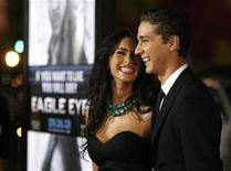 "<p>Cast member Shia LaBeouf (R) poses with actress Megan Fox at the premiere of the movie ""Eagle Eye"" at the Grauman's Chinese theatre in Hollywood, California September 16, 2008. REUTERS/Mario Anzuoni</p>"