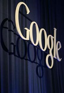 A Google sign is seen at its headquarters in Mountain View, California, May 22, 2008. REUTERS/Robert Galbraith