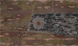"<p>Clifford Possum Tjapaltjarri's 1977 ""Warlugulong"" synthetic polymer paint on canvas in an image courtesy of the Collection of the National Gallery of Australia. REUTERS/Handout</p>"