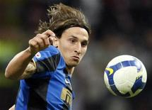 <p>Zlatan Ibrahimovic dell'Inter. REUTERS/Stefano Rellandini</p>
