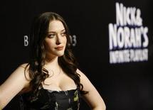 "<p>Cast member Kat Dennings poses at the movie premiere of ""Nick and Norah's Infinite Playlist"" at the Arclight theatre in Hollywood, California in this recent photo from October 2, 2008. REUTERS/Mario Anzuoni</p>"