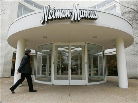 A shopper enters a Neiman Marcus store in Oak Brook, Illinois, a suburb of Chicago, May 2, 2005. REUTERS/John Gress