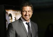 "<p>Cast member Gerard Butler attends the premiere of the movie ""RocknRolla"" at the Cinerama Dome in Hollywood, California October 6, 2008. The movie opens in the U.S. on October 31. REUTERS/Mario Anzuoni</p>"