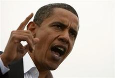 <p>Барак Обама выступает перед избирателями штата Индиана во время предвыборной гонки, 8 октября 2008 года . Кандидаты в президенты США Барак Обама и Джон Маккейн выступили с резкими заявлениями в адрес России во время предвыборных дебатов во вторник. (REUTERS/Jim Young)</p>
