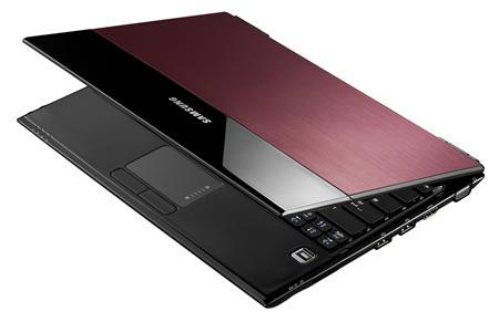 The new Samsung X360 laptop in an undated image. The X360 weighs 2.8 pounds and has an ultra-thin, tapered wedge design with a magnesium allow chassis, an aluminum top and a ''pebble''-style keyboard. REUTERS/Handout