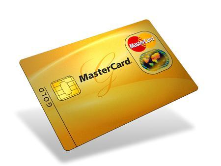 A MasterCard Gold card in an undated image. REUTERS/Handout