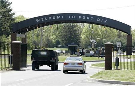 A vehicle entry gate is shown at Fort Dix, New Jersey May 8, 2007. REUTERS/John Randolph