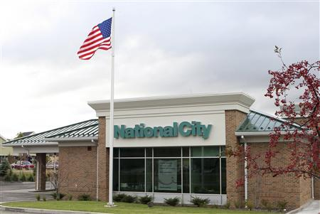 A general view shows a branch of the National City Corp bank in Medina, Ohio, October 21, 2008. REUTERS/Aaron Josefczyk