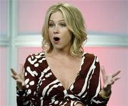 "<p>Cast member Christina Applegate of the new comedy series ""Samantha Who?"" takes part in a panel discussion at the ABC television network summer media tour for television critics in Beverly Hills, California July 26, 2007. REUTERS/Fred Prouser</p>"