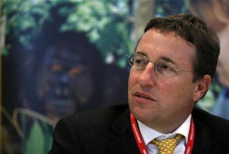 Achim Steiner, the executive director of the U.N. Environment Program, speaks during a conference at the International Union for Conservation of Nature (IUCN) World Conservation Congress in Barcelona October 6, 2008. REUTERS/Albert Gea