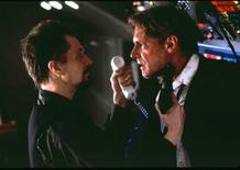 "<p>The film ""Air Force One"" featuring Gary Oldman (L) as a Russian terrorist and Harrison Ford (R) as Commander in Chief, is shown in an undated publicity photo. REUTERS/Handout</p>"
