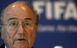 """<p>As finanças da Fifa estão em uma situação entre """"privilegiada e confortável"""", e a entidade ainda não sofreu nenhum impacto da crise financeira global, afirmou o presidente da entidade, Joseph Blatter. 24 de outubro.REUTERS/Arnd Wiegmann (SWITZERLAND)</p>"""