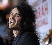 "<p>British actor Russell Brand, a cast member in the film ""Forgetting Sarah Marshall,"" arrives at the premiere of the film in Los Angeles April 10, 2008. REUTERS/Chris Pizzello</p>"