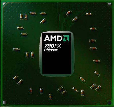 An AMD 790FX chip is seen in an undated handout photo. REUTERS/AMD/Handout