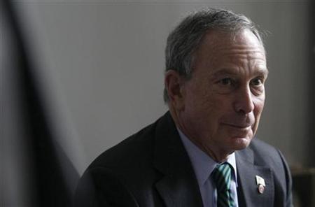 New York Mayor Michael Bloomberg attends a meeting with Berlin Mayor Klaus Wowereit in Berlin, October 5, 2008. REUTERS/Tobias Schwarz