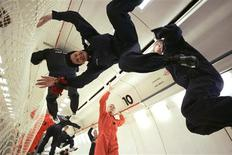 "<p>European officials, technicians and journalists experience zero gravity during a ""Zero G"" test flight over Bordeaux, France in this picture taken November 7, 2008. REUTERS/Tim Hepher</p>"