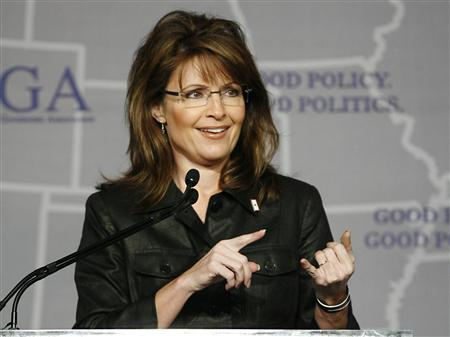 Governor Sarah Palin (R-AK) speaks during a Plenary Session at the 2008 Republican Governors Association Annual Conference in Miami November 13, 2008. REUTERS/Hans Deryk