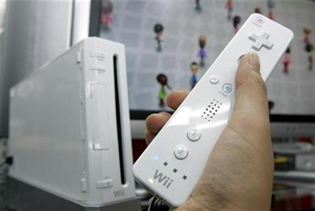 Nintendo Co's Wii game console is displayed at an electronic shop in Tokyo's Akihabara district in this January 24, 2008 file photo. REUTERS/Yuriko Nakao