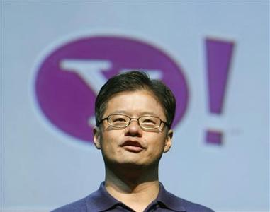 Yahoo CEO and co-founder Jerry Yang speaks at the Consumer Electronics Show in Las Vegas, January 7, 2008. REUTERS/Rick Wilking