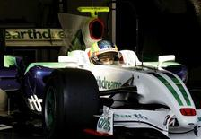 <p>Brunno Senna participa de teste com a equipe Honda nesta quarta-feira em Barcelona. REUTERS/Gustau Nacarino (SPAIN)</p>