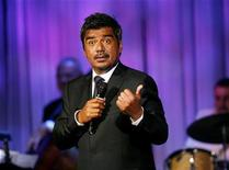 <p>Comedian George Lopez performs at the 53rd annual Thalians gala in Beverly Hills, California November 2, 2008. REUTERS/Mario Anzuoni</p>