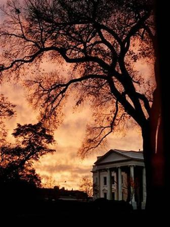 The North Portico of the White House is seen at sunrise in a file photo. REUTERS/Larry Downing