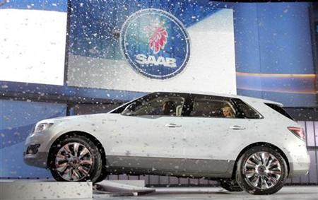 General Motors unveils the Saab 9-4X BioPower concept vehicle during the press preview at the 2008 North American International Auto Show in Detroit, January 13, 2008. REUTERS/ Mike Cassese