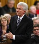 <p>Bloc Quebecois leader Gilles Duceppe speaks during Question Period in the House of Commons on Parliament Hill in Ottawa November 27, 2008. REUTERS/Chris Wattie</p>
