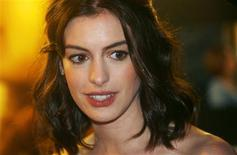 "<p>Actress Anne Hathaway arrives for the British premiere of ""Rachel Getting Married"" at Leicester Square in London, October 20, 2008. REUTERS/Luke MacGregor</p>"