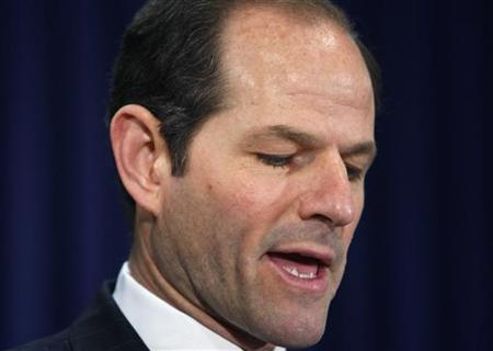 New York Governor Eliot Spitzer announces his resignation at his office in New York, March 12, 2008. REUTERS/Brendan McDermid