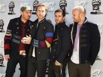 <p>Members of the British band Coldplay pose at the 2008 MTV Movie Awards in Los Angeles June 1, 2008. REUTERS/Fred Prouser</p>