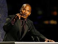 <p>Entertainer Jamie Foxx performs at the Thelonious Monk Institute of Jazz International Trumpet Competition and Herbie Hancock Tribute in Hollywood October 28, 2007. REUTERS/Max Morse</p>