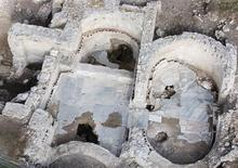 <p>Ancient thermal baths are seen at Villa delle Vignacce near Ciampino airport, south of Rome, in an undated photo released December 10, 2008. REUTERS/American Institute of Roman Culture/Handout</p>