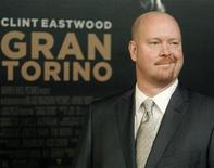 "<p>Nick Schenk, screenwriter of director Clint Eastwood's new film ""Gran Torino"" poses at the film's world premiere at the Warner Bros. studio lot in Burbank, California December 9, 2008. REUTERS/Fred Prouser</p>"