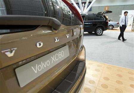 A Volvo XC60 is exhibited at the New England International Autoshow in Boston, Massachusetts in this December 3, 2008 file photo. REUTERS/Brian Snyder
