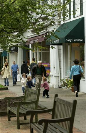 Downtown East Hampton in an undated image. REUTERS/NY State/Handout